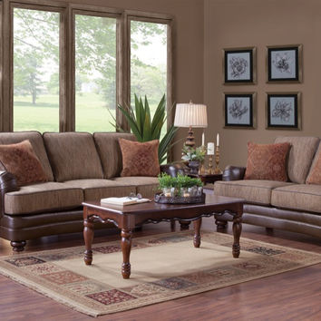 Serta Upholstery Emu Brownie Sofa and Loveseat