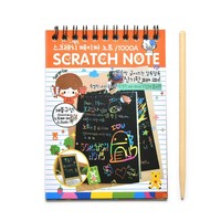 1pc Drawing Sketchbook Paper DIY Scratchbook Scratch Stickers Kids Toy Wooden Boy's Scraping Painting Learning Educational Toys