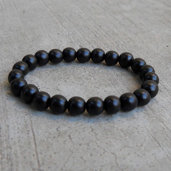 strength, the basic genuine ebony mala bracelet