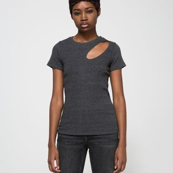 LNA / Dropout Tee in Charcoal