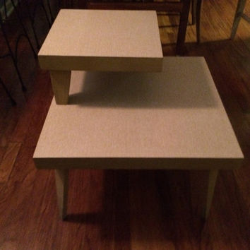 Mid Century Atomic Blonde End Table