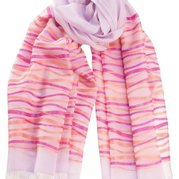 Lia-Sheer Silk Ribbons Large Shawl Scarf