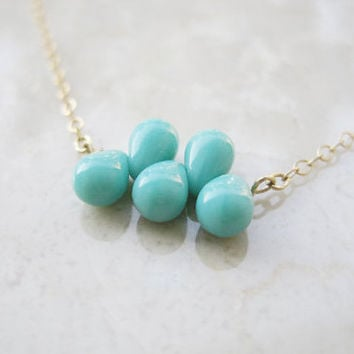 Bullett Necklace in minty turquoise