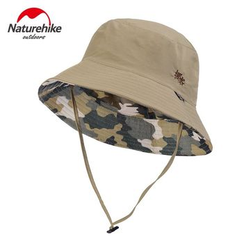 NatureHike Outdoor Hiking Hat Man UV-Protective Foldable Beach Men Women Summer Cap Hats With Wind Rope Fishing Traveling Caps