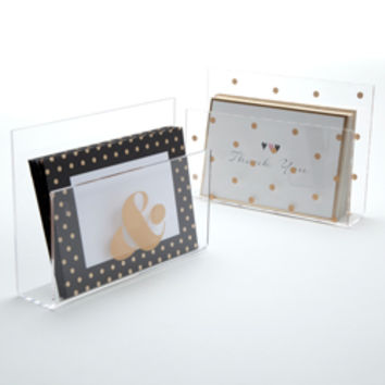Acrylic Letter Holder-Gold Print