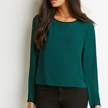 Contrast-Trimmed Top