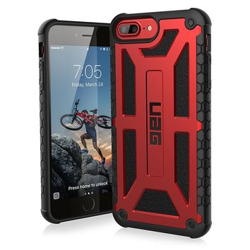 UAG iPhone 8 Plus / iPhone 7 Plus / iPhone 6s Plus [5.5-inch screen] Monarch Feather-Light Rugged [CRIMSON] Military Drop Tested iPhone Case