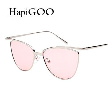 Women Cat Eye Clear Sunglasses New Designer Sun Glasses For Female Men Fashion Vintage Ladies Mirror Shades