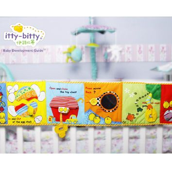 Itty Bitty Lovely Crib Gallery Chick Mirror Teether Baby Bed Hanging Bell Cloth Book for Infant Toys for Children Gift