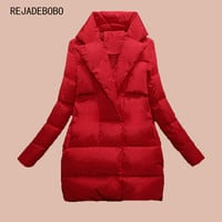 2017 new women down parka autumn and winter jacket women down coats female outerwear medium-long lady clothing white duck down