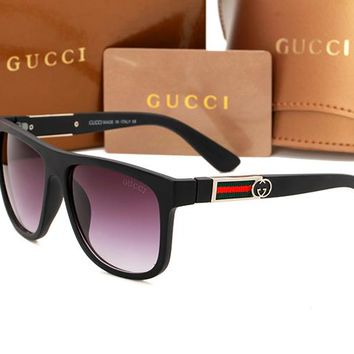 Gucci sunglass AA Classic Aviator Sunglasses, Polarized, 100% UV protection 2974244985 GG3880