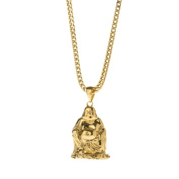 Sitting Buddha Pendant Necklace