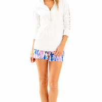 Skipper Solid Popover - Lace Sleeve | 26084 | Lilly Pulitzer