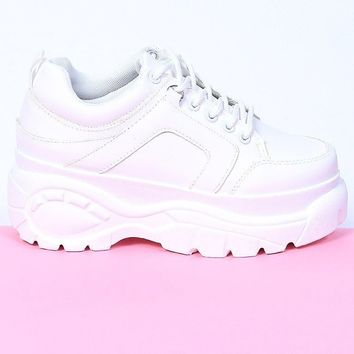 Above The Law Platform Sneaker - White