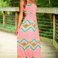 Mountain Top Maxi, Pink