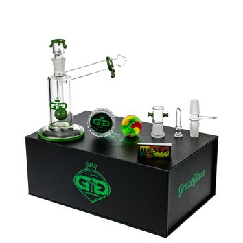 Grace Glass GG Sidecar Vapor Bubbler with Slitted Ball Perc | Green | Grasscity
