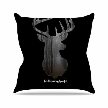 "Suzanne Carter ""The Road"" Contemporary Nature Throw Pillow"