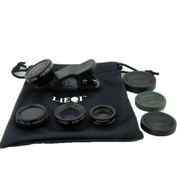 LIEQI LQ008 super wide-angle fisheye macro effects CPL filter Four cell phone camera