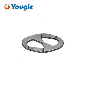 YOUGLE 10Pcs/Lot Paracord buckles Outdoor Sport Mountaineering Carabiner Snap Clip Hook Keychain Hiking Bottle buckle