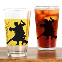 DANCE COUPLE SILHOUETTE DRINKING GLASS
