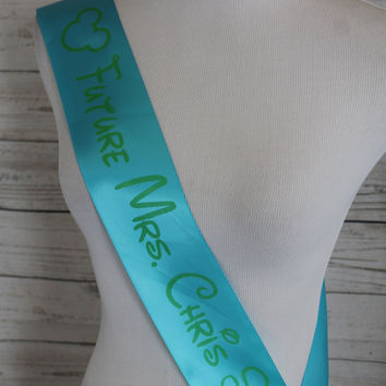 Bachelorette Party Sash - Personalized Bachelorette Hen or Engagement Party Celebration Ribbon Sash with Custom Wording | Fast Shipping