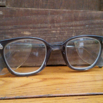 Vintage Grey American Optics Safety Glasses Vintage Eyewear