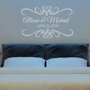 Wedding Ceremony Date Lettering Wall Stickers
