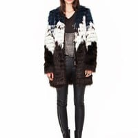 Multi color fur coat - Shop the latest Fashion Trends