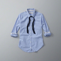 Necktie Button-Up Shirt