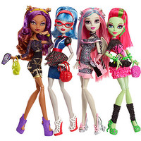 Walmart: Monster High Ghouls' Night Out Dolls, 4-Pack