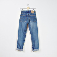 90s G-STAR Jeans / Boyfriend's Style High Waisted Denim Pants / Size 26