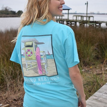 "Anna Grace ""Lifeguard Tower"" on a Comfort Colors T-shirt"