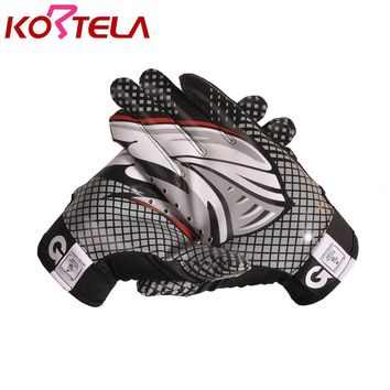 Running Back Brand Team players official speed grip men sport military Gloves sticky grip National American football glove