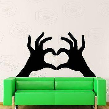 Wall Sticker Hands Making Heart Very Romantic Decor for Girls Bedroom Unique Gift (z1420)