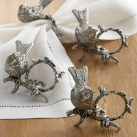 """Song Bird"" Napkin Rings - Vagabond House"