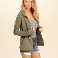 Girls Full-Zip Mock Neck Sweatshirt | Girls Tops | HollisterCo.com