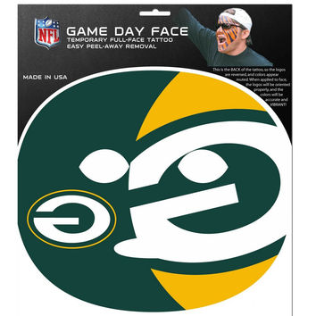 Green Bay Packers Game Face Temporary Tattoo FGFD115