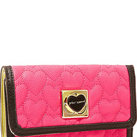 BetseyJohnson.com - WILL YOU BE MINE FOLDOVER WALLET PINK