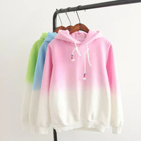 Gradient Color Hoodie Pullover Shirt