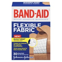 Band-Aid Flexible Fabric Brand Adhesive Bandages - 30 Count
