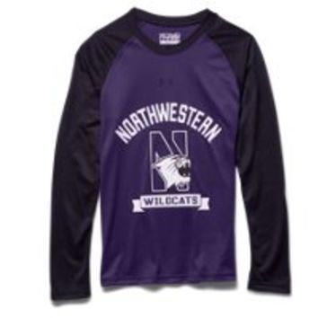 Under Armour Boys' Northwestern UA Tech Raglan T-Shirt