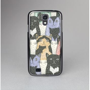 The Vintage Cat portrait Skin-Sert Case for the Samsung Galaxy S4
