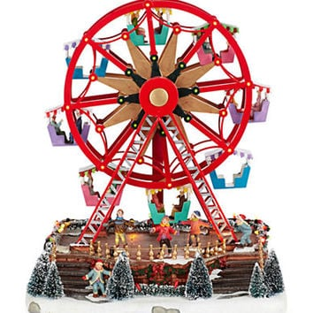 Lord & Taylor Ferris Wheel Christmas scene with LED lights