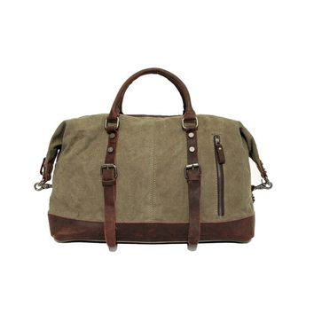 Vintage Military Canvas/Leather Bag