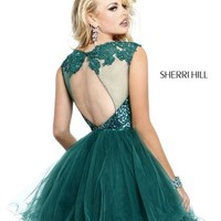 Sherri Hill Short Dress 21217 at Prom Dress Shop