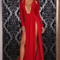 Envy Gown Red