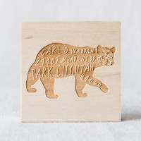 Bear Return Address Custom Stamp | Sycamore Street Press
