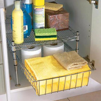 Storage Rack Under Cabinet Bathroom Toiletries Storage Shelf Drawer Space Saver