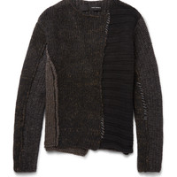 Isabel Benenato - Panelled Knitted Sweater
