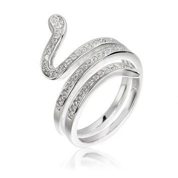 Fashion Sterling Silver Jewelry 925 Sterling Silver Snake Rings For Women Chrismas Gifts Silver Snake Ring Anillos Black Friday